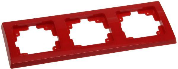 DELPHI 3-fach Rahmen rot