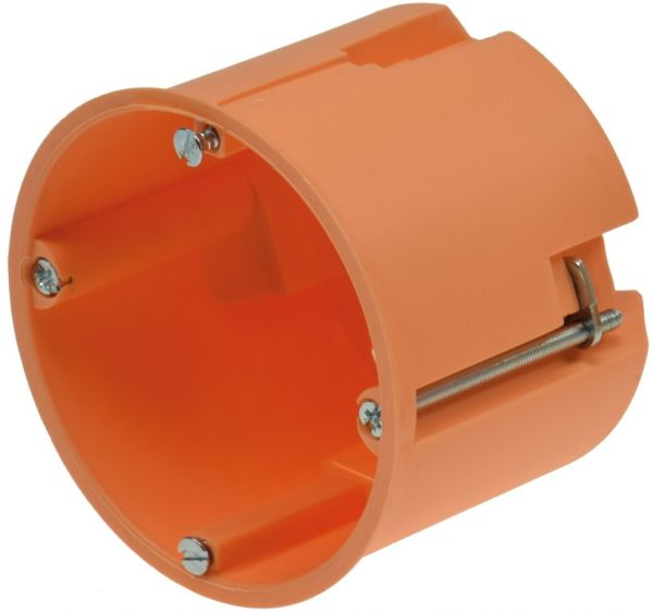 Hohlwanddose Ø 68 x 60mm inkl. Geräteschrauben, orange