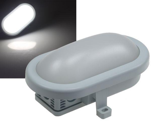 LED Oval-Armatur REV mit HF-Sensor 10W, 00lm, 168x115x70mm, 6500K, grau