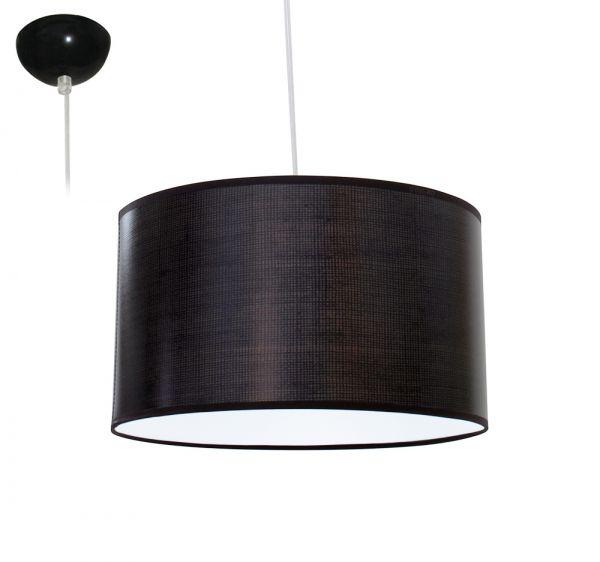 Bioledex ANISO Pendelleuchte Stoff Design grob dunkel-grau E27 35cm L110919