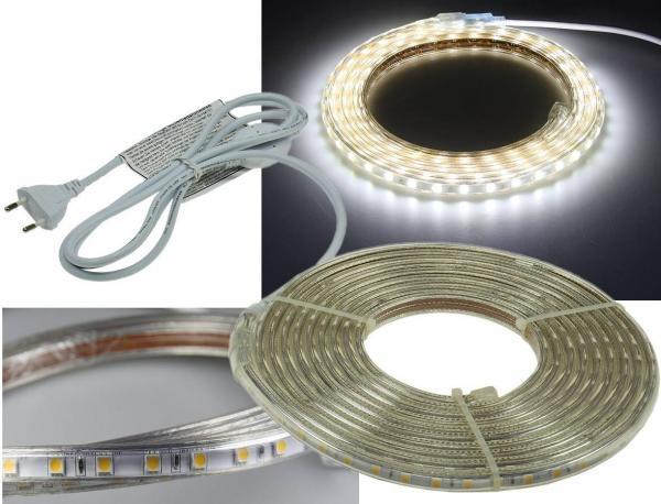 LED-Stripe Ultra-Bright 230V 5 Meter 50 Watt und 3150 Lumen Kaltweiß