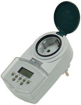 """digitale Wochen-Zeitschaltuhr """"DAZ-7"""" IP44, max. 2000W / 8,7A"""