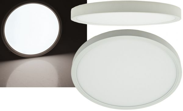 "LED Deckenleuchte ""Santano 24n"" Ø 30cm, 24W, 1920lm, 4200K neutralweiß"