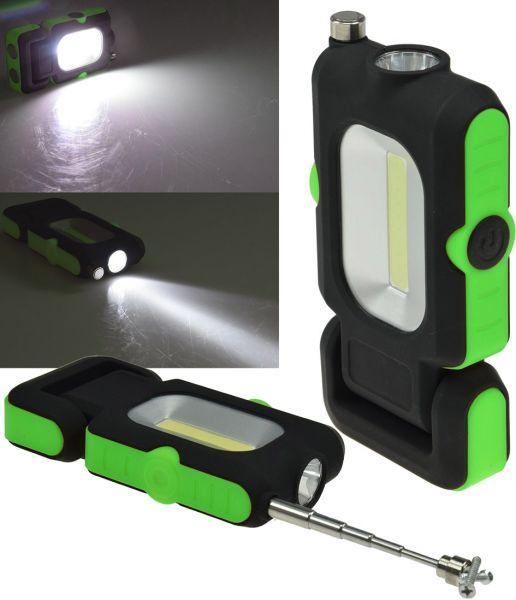 "LED Arbeitsleuchte ""CAL-COB Flexi"" 3W, 220Lumen, Haken, Magnetfuß, PickUp"