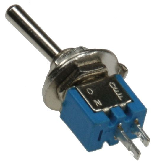 Miniatur Kippschalter 1x EIN/AUS 12V/3A, Lötösen, 2-Pin, Gewinde Ø 6mm