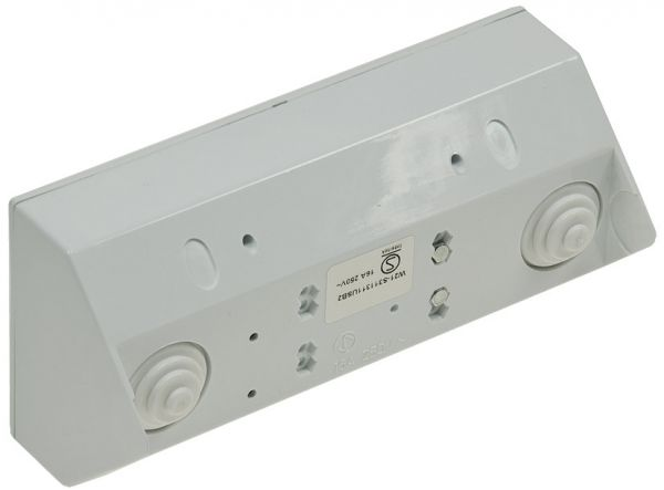 2-fach Steckdosenblock + 2x USB, weiß 250V~/ 16A, Aufbaumontage