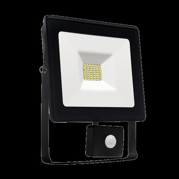 LED Fluter / Scheinwerfer NOCTIS Lux in Schwarz 20 Watt mit Bewegungsmelder Lichtfarbe wählbar