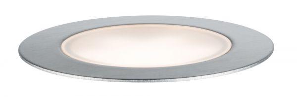 Paulmann Outdoor Plug & Shine Floor Basisset IP65 3000K 3x1W 24V 70mm Silber Eds/Kst