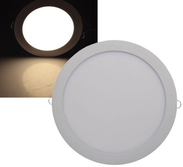 "LED Licht-Panel ""QCP-30R"", Ø 30cm 230V, 24W, 1680 Lumen, 2900K / warmweiß"