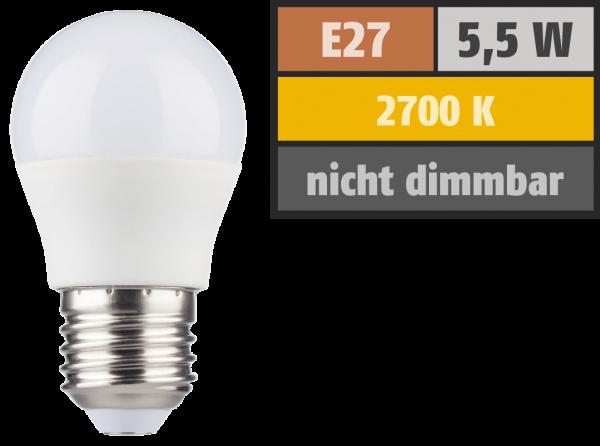 LED Tropfenlampe HD95 E27, 5,5W, 420lm, 2700K, warmweiß, Ra>95
