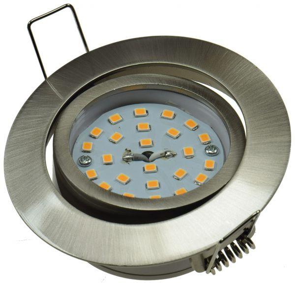 """LED-Einbauleuchte """"Flat-32"""" neutralweiß 80x32mm, 5W, 490lm, Edelstahl gebürstet"""