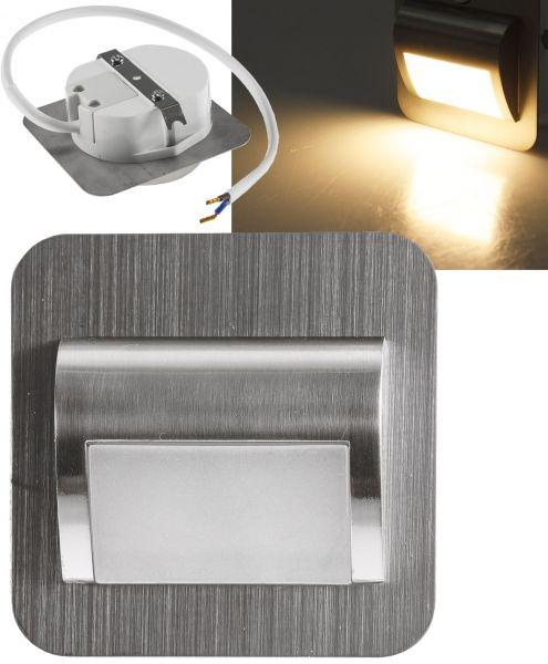 LED Einbauleuchte für UP-Dosen Alu gebürstet 2W, 25lm, warmweiß