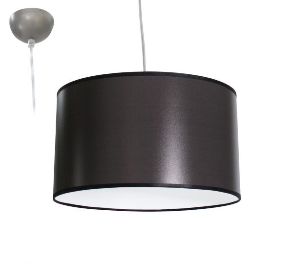 Bioledex ANISO Pendelleuchte Stoff Design grau E27 35cm L110920