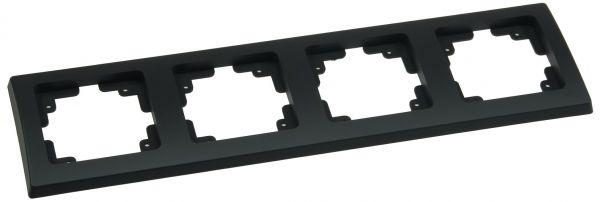 DELPHI 4-fach Rahmen matt-schwarz