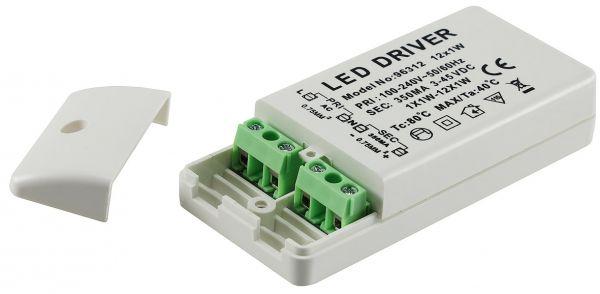 elektronischer LED-Trafo 3-45V 220-240V, Ausgang konstant Strom 350mA