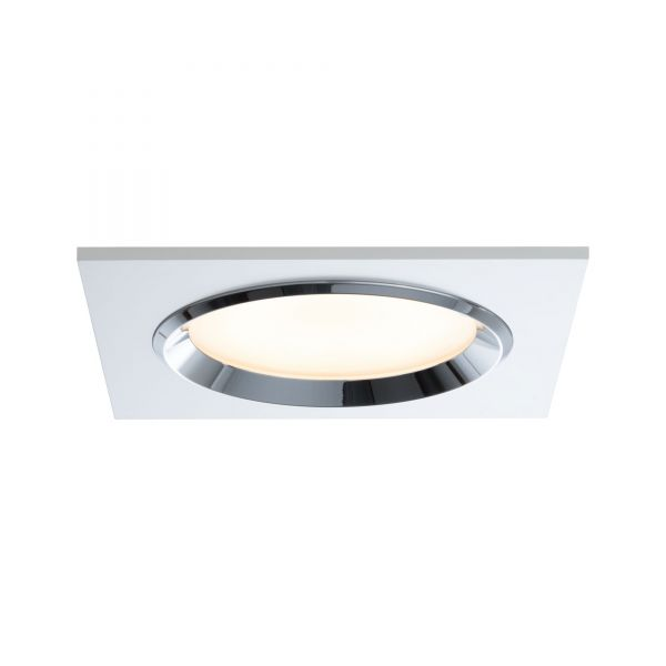 Paulmann Premium EBL Set Dice eckig LED 3x8W 36VA 230V/700mA 150x150mm Ws/Chr Alu/Gls