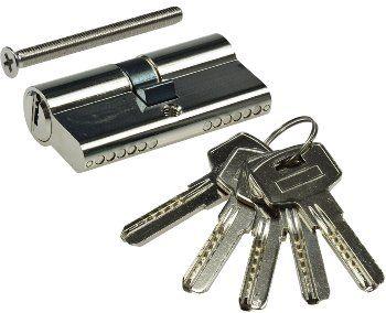 Schließzylinder 60mm (30+30mm) Profil-Zylinder, 5 Sicherheits-Schlüssel