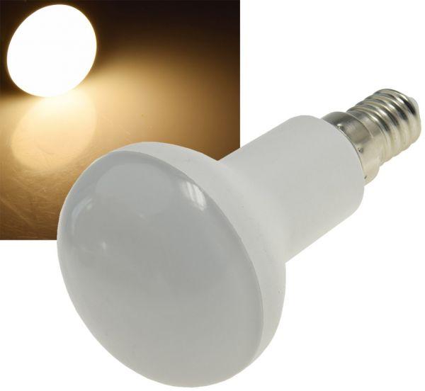 LED Reflektorstrahler R50 E14 6W 480 Lumen, 230V, 120°, 3000K warmweiß
