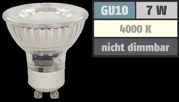 LED-Strahler McShine MCOB GU10, 7W, 550 lm, neutralweiß