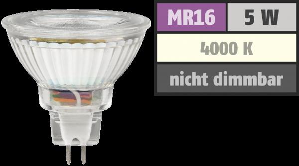 LED-Strahler McShine MCOB MR16, 5W, 400 lm, neutralweiß