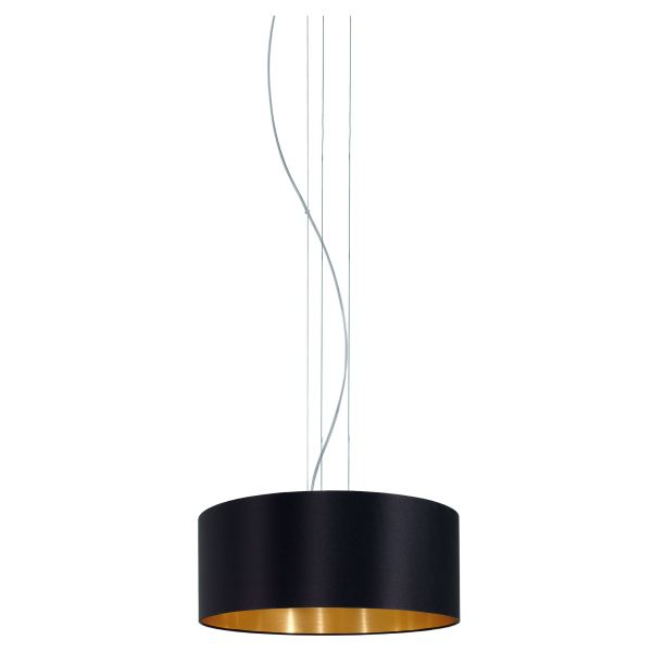 EGLO Pendelleuchte MASERLO schwarz/gold E27