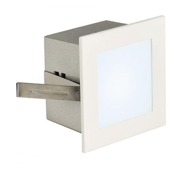 SLV FRAME BASIC LED Einbauleuchte,eckig, mattweiss, neutral-weisse LED