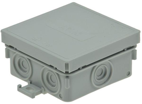 Feuchtraum-Kabelabzweigkasten, 10er Pack 75x75x40mm, IP54, 7-fach, grau