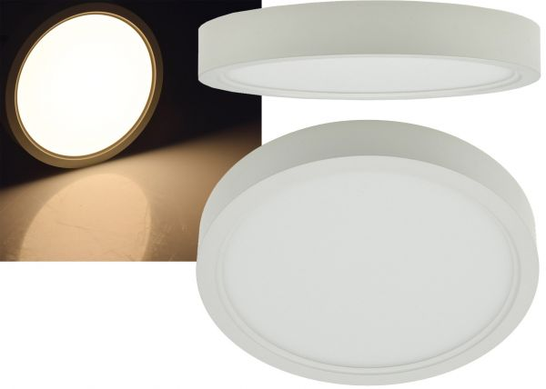 "LED Deckenleuchte ""Santano 12w"" Ø 17cm, 12W, 940lm, 3000K warmweiß"