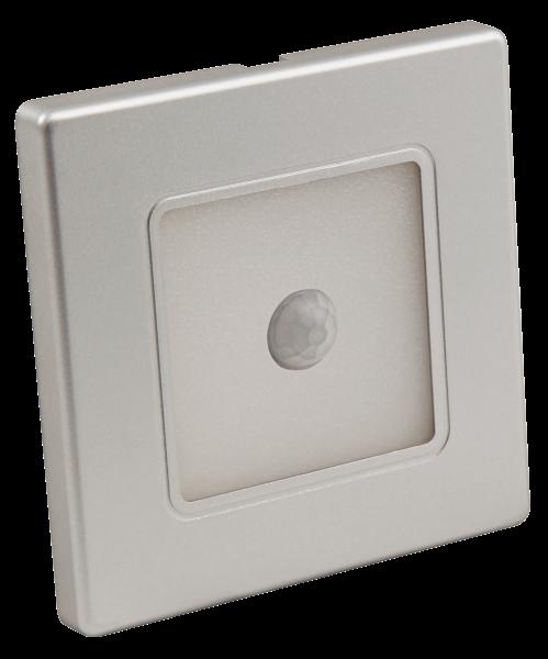 LED-Wand-Einbauleuchte McShine LWE-86SB 2W, 100lm, warmweiß, silberner Rahmen