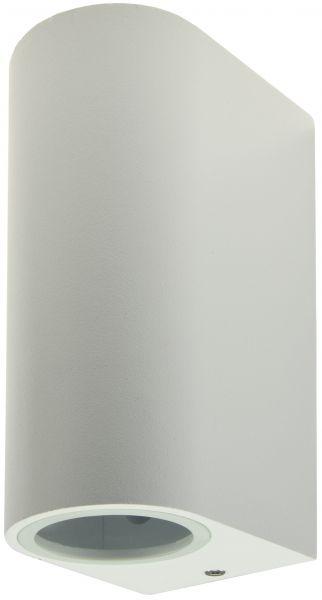 """LED-Wandleuchte """"CTW-2"""" für 2x GU10, IP44, Gehäuse weiß"""
