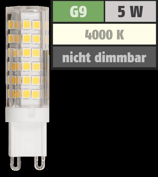 LED-Stiftsockellampe McShine, G9, 5W, 520lm, 4000K, neutralweiß