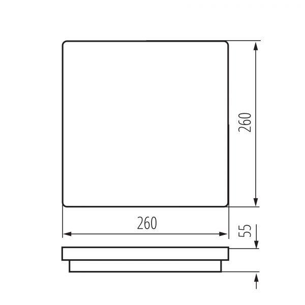 LED-Deckenleuchte BENO LED 24W WW-L