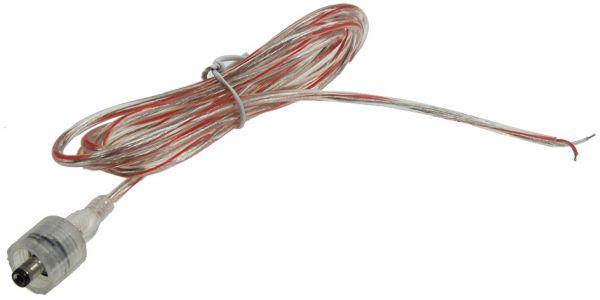 Anschlusskabel für LED-Stripes IP44 1,5m lang, 5,5/2,1mm Stecker > 2x blank