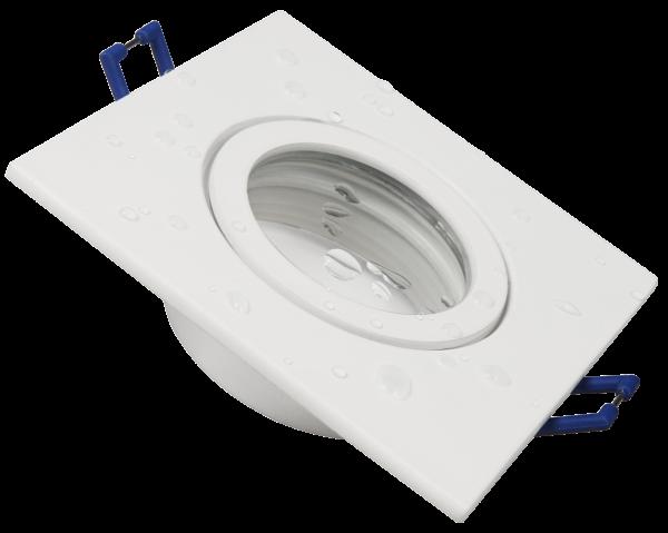 Einbaurahmen McShine DL-54 eckig, Clip-Verschluss, IP44, weiß
