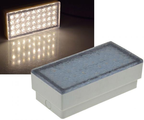 "LED Pflasterstein ""BRIKX 20"" warmweiß 20x10x7cm, 180lm, IP67, 230V"