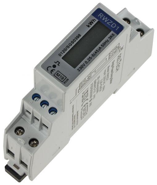 Wechselstromzähler für DIN Trägerschiene 1-phasig 5A, 161-300V, 1TE, digital LCD