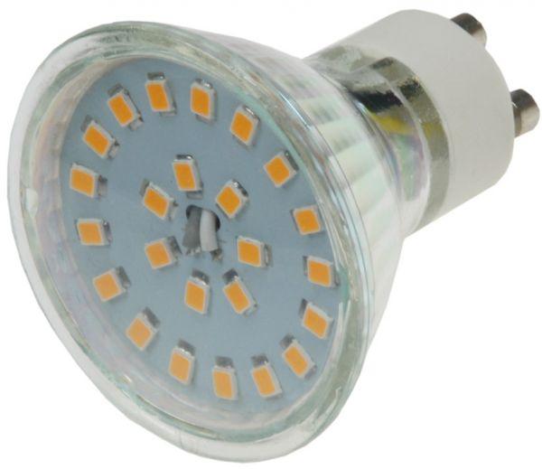 """LED Strahler GU10 """"H55 SMD"""" 120°, 3000k, 400lm, 230V/5W, warmweiß"""