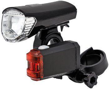 """Fahrrad LED-Beleuchtungsset """"CFL 30 pro"""" 30Lux, StVZO zugelassen, Lithium-Akku"""