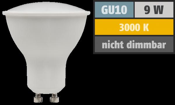 LED-Strahler McShine PV-90 GU10, 9W, 900lm, 120°, 3000K, warmweiß