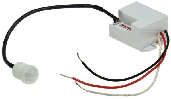 """Einbau-Bewegungsmelder """"CT-PIR Mini 12V"""" 12V DC, 1-60W, LED geeignet, weiß"""