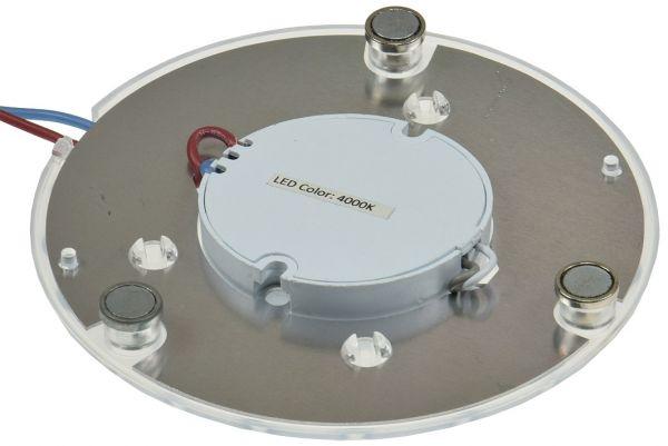 "LED Umrüstmodul ""UM12nw"" für Leuchten Ø125mm, 12W, 1100lm, 4000K, Magnethalter"