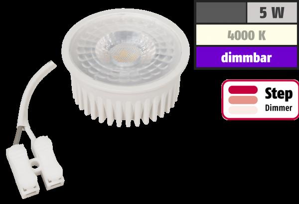 LED-Modul McShine MCOB 5W, 400lm, 230V, 50x25mm, neutralweiß, step-dimmbar
