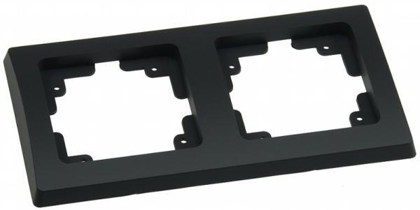 DELPHI 2-fach Rahmen in Schwarz