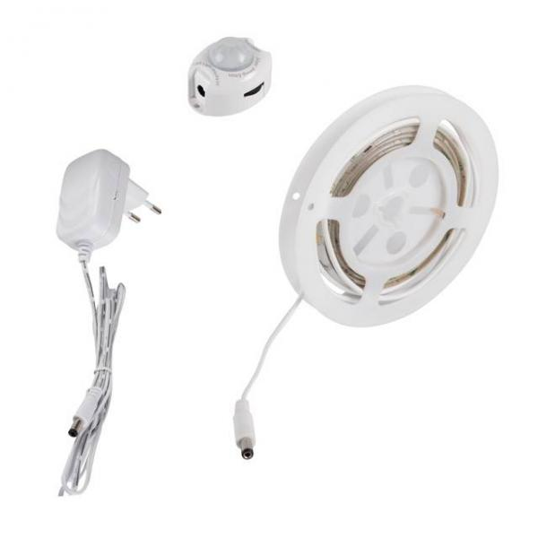 LED-Stripe Set Bettbeleuchtung mit Bewegungssensor 3,3W 240lm warmweiß