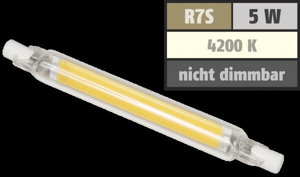 LED-Strahler McShine LS-718 R7s, 4W, 400lm, 78mm, 360°, neutralweiß