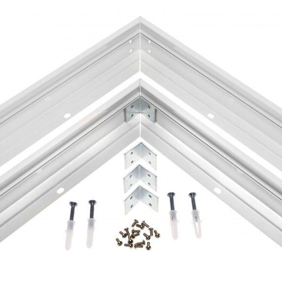 Aufbaurahmen für 120 x 30 cm LED Panel Metall