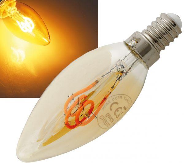 "LED Kerzenlampe E14 ""Vintage K25"" 2000k, 140lm, 230V/2W, warmweiß/amber"