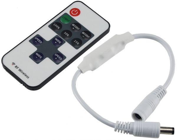 Funk-Controller für LED-Stripes mit Fernbedienung, 12-24V, 72Watt