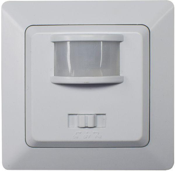 MILOS Bewegungsmelder, 160°, weiß matt 250V~, 400W, inkl. Rahmen, LED geeignet