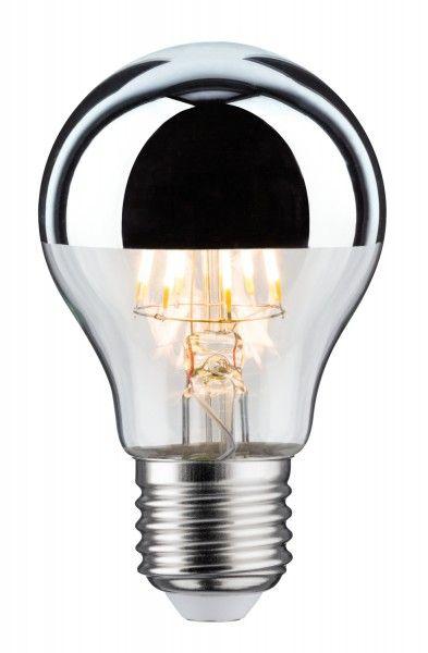 Paulmann LED AGL 7,5 Watt E27 Kopfspiegel Silber warmweiß